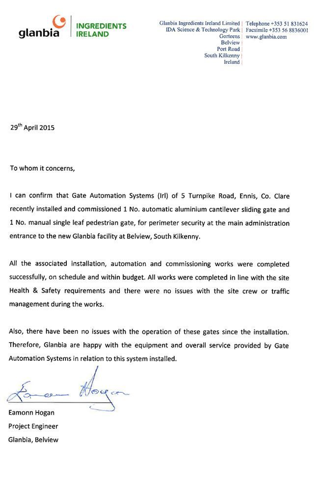 Glanbia Letter of Reference.pdf