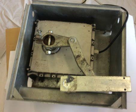 Motor unit within galvanized foundation box